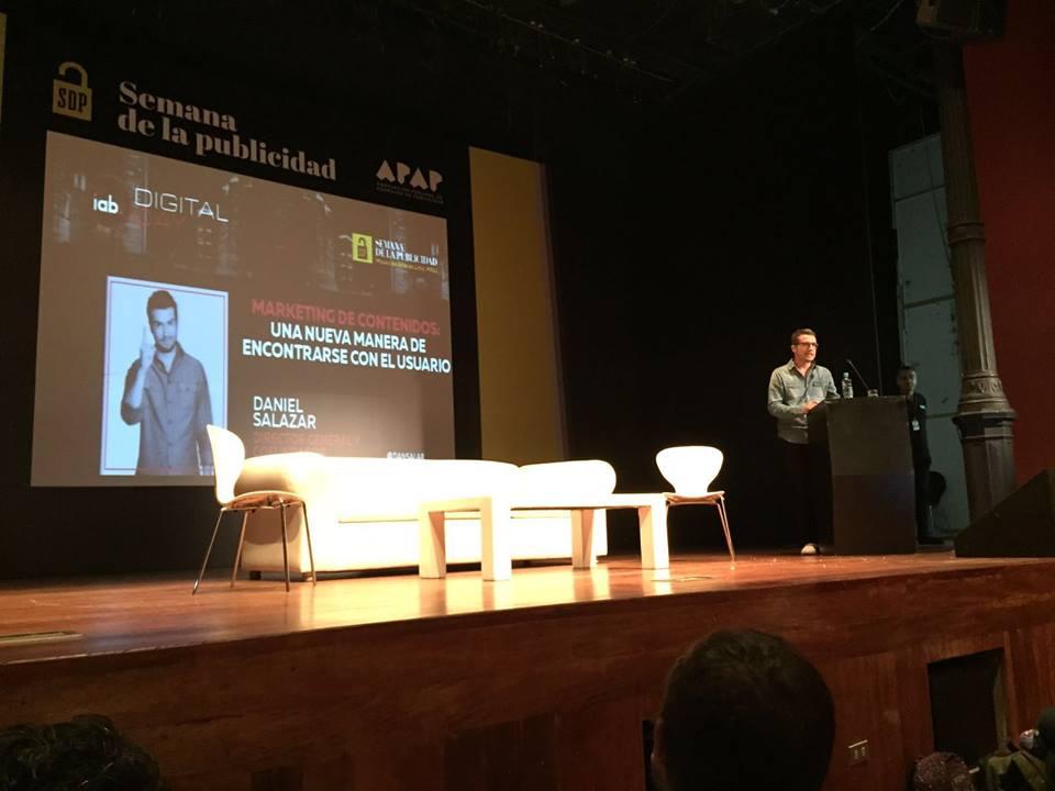 Daniel Salazar, de Contenidos EL REY, en la Semana de la publicidad de Perú